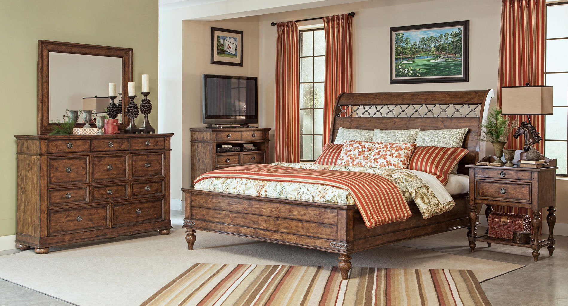 Southern Pines Whispering Pines Sleigh Bedroom Set