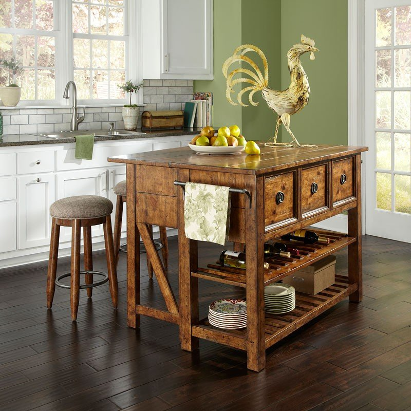 Southern Pines Loblolly Kitchen Island Set
