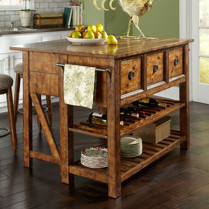 Kitchen Island Furniture Product: Southern Pines Loblolly Kitchen Island Klaussner, 2