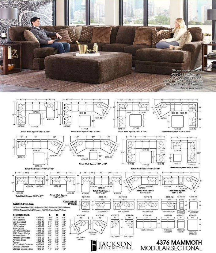 Mammoth Modular Sectional Chocolate Jackson Furniture