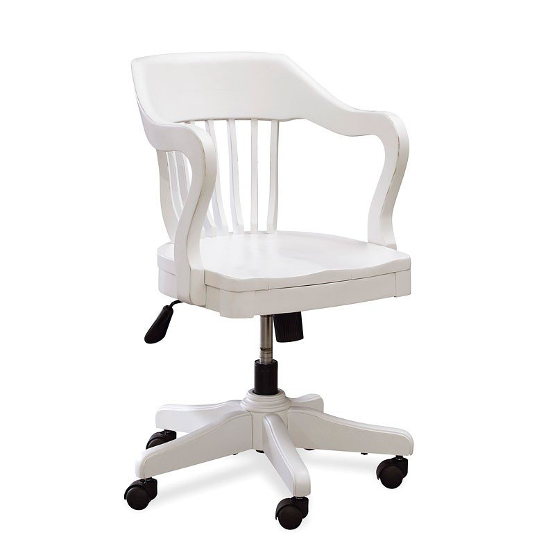 Black And White Young Bankers Chair (White)