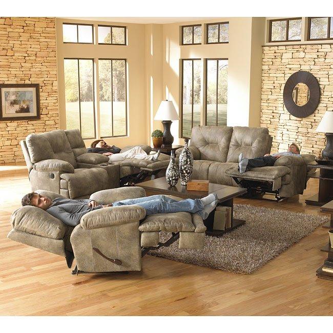 Voyager Lay Flat Reclining Living Room Set Catnapper 1