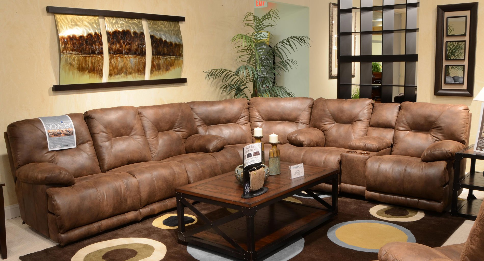 Peachy Voyager Reclining Sectional Elk Ncnpc Chair Design For Home Ncnpcorg