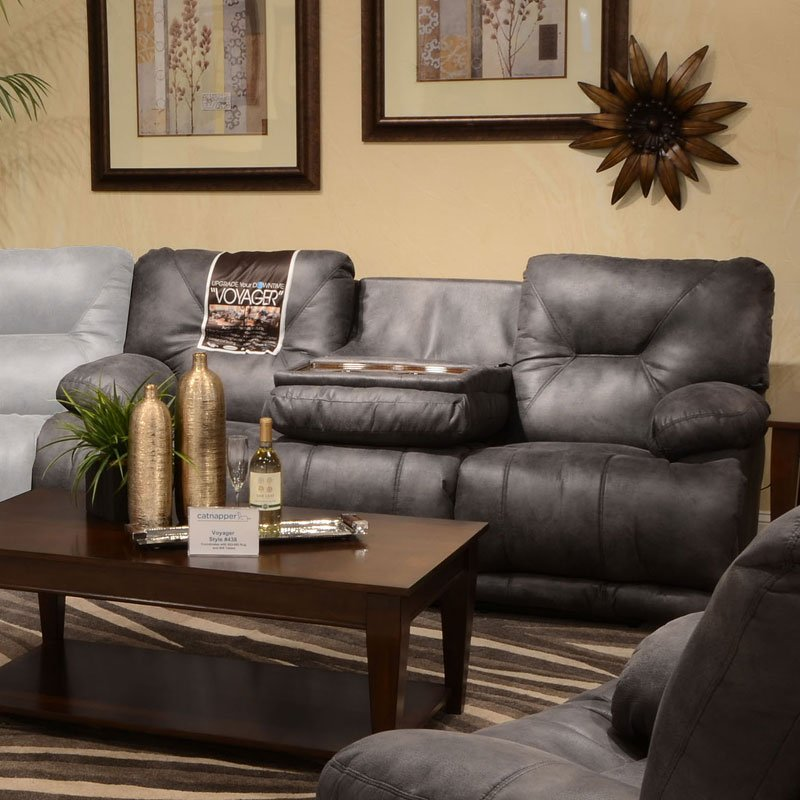Voyager Lay Flat Reclining Sofa (Slate)