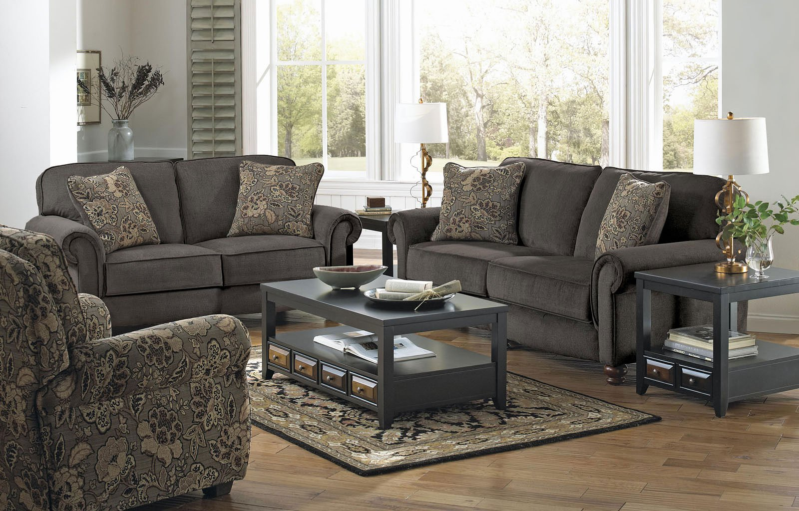 Downing Living Room Set Charcoal Jackson Furniture