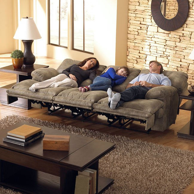 Voyager Lay Flat Triple Reclining Sofa Catnapper 1