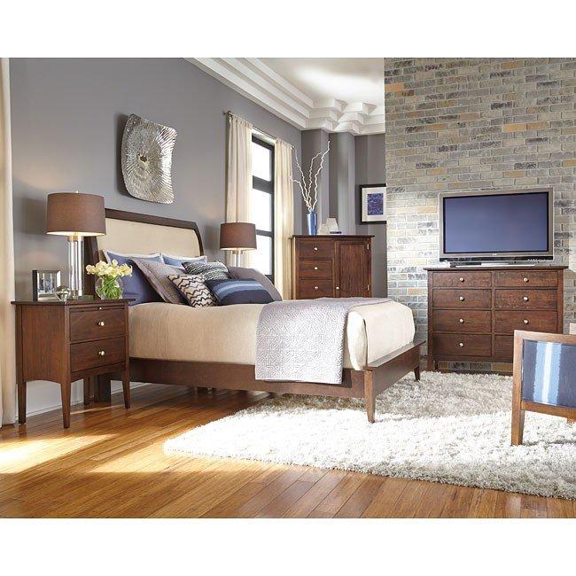 Ashley Furniture Meridian Idaho: Gatherings Meridian Sleigh Bedroom Set (Molasses) Kincaid Furniture