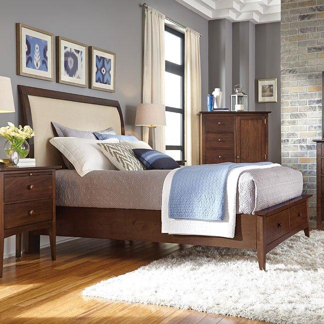 Ashley Furniture Meridian Idaho: Gatherings Meridian Sleigh Storage Bedroom Set (Molasses) Kincaid Furniture