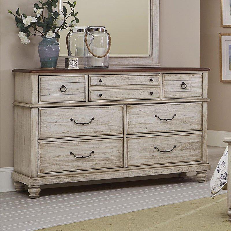 arrendelle dresser rustic white vaughan bassett furniture cart. Black Bedroom Furniture Sets. Home Design Ideas