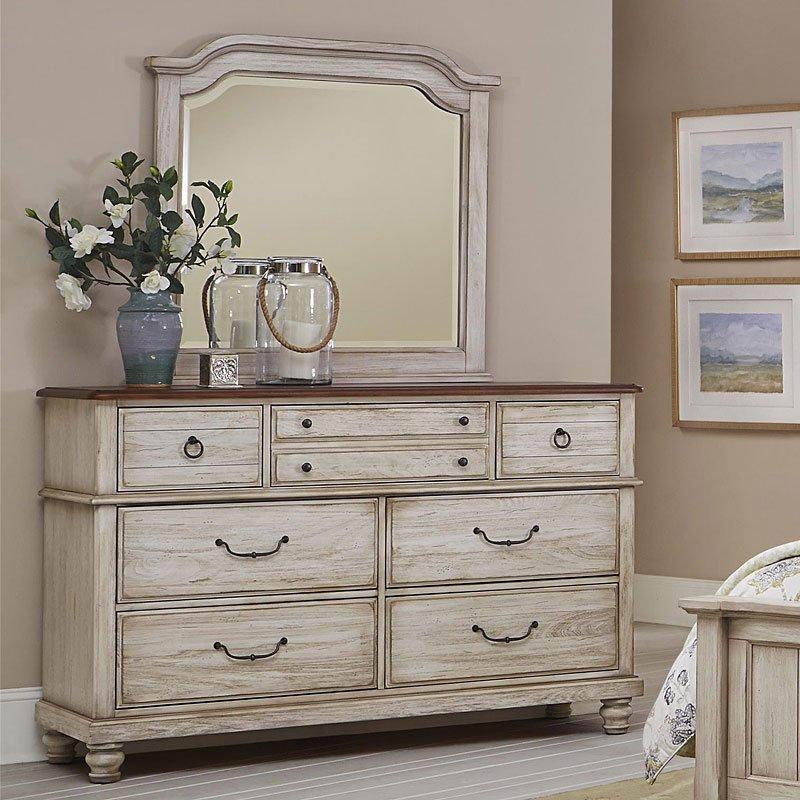 Arrendelle Dresser Rustic White Vaughan Bassett Furniture Cart