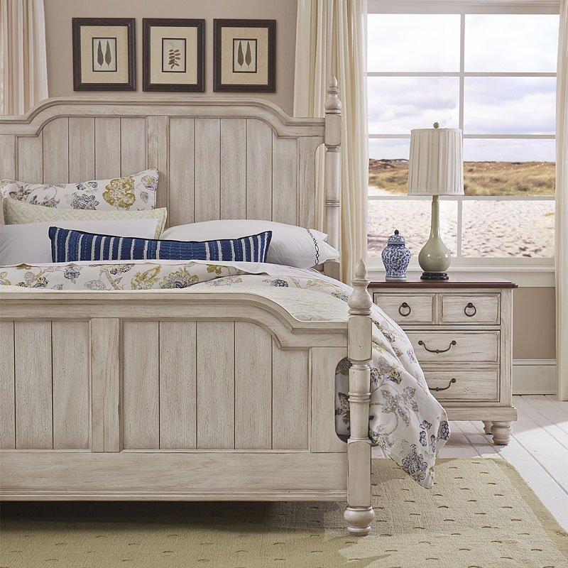 arrendelle poster bedroom set rustic white vaughan bassett furniture cart. Black Bedroom Furniture Sets. Home Design Ideas