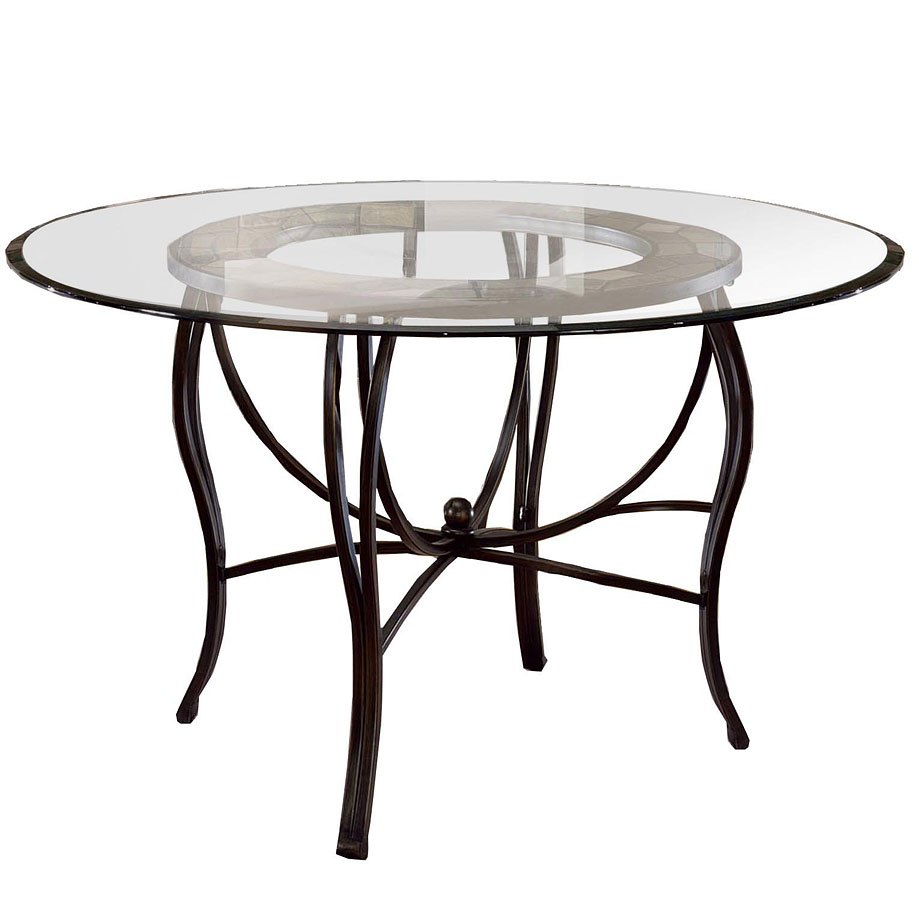 Pompei Round Dining Room Set W Caster Chairs Hillsdale