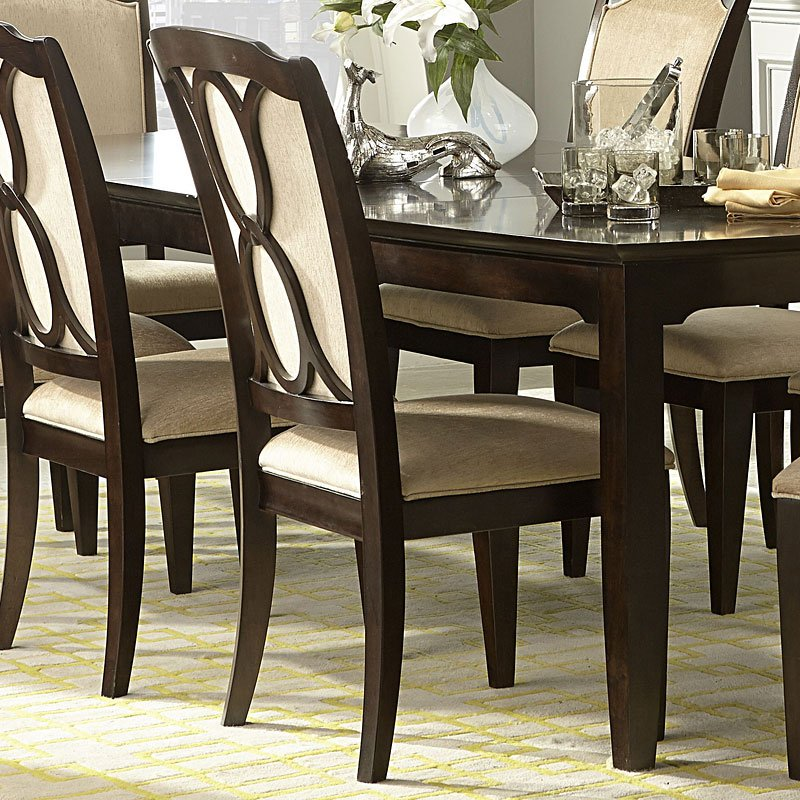 Sophia Dining Table By Legacy Clic Ribbon Back Side Chair Set Of 2