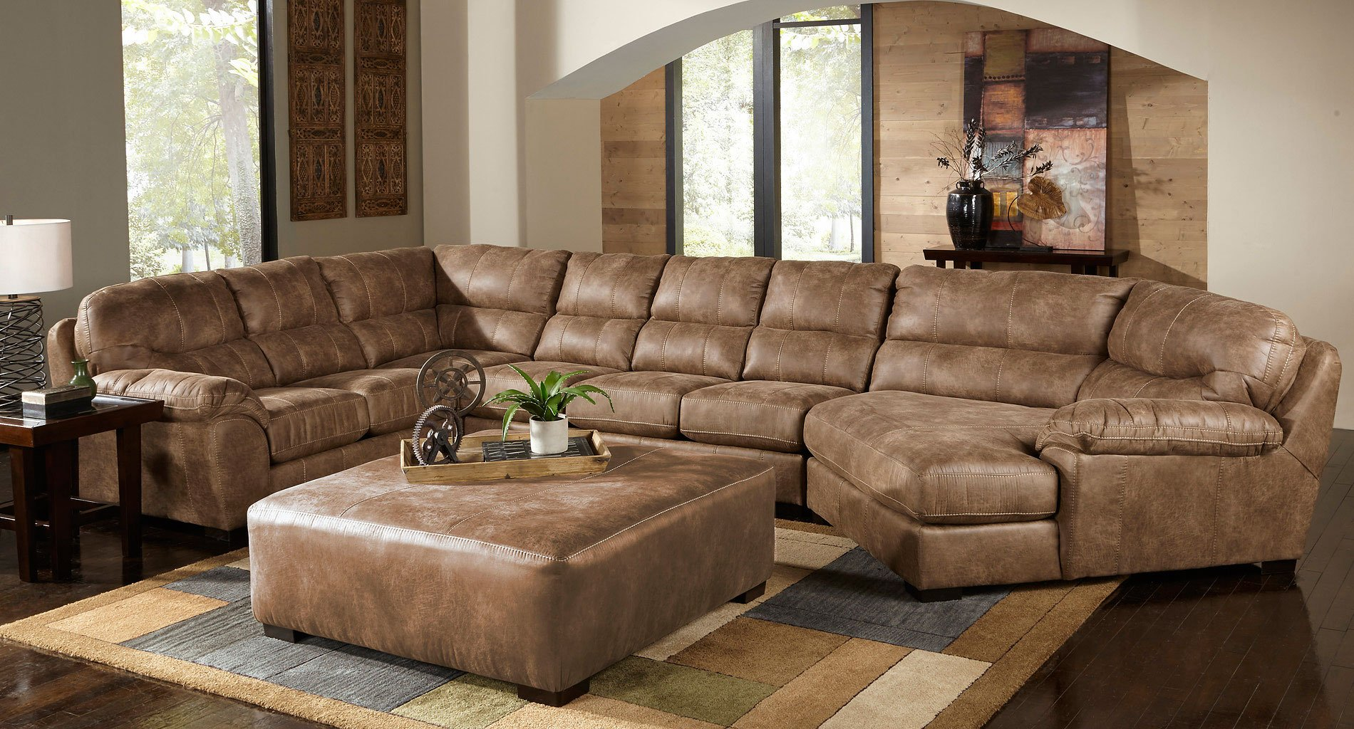 Grant Modular Sectional W Piano Wedge Silt
