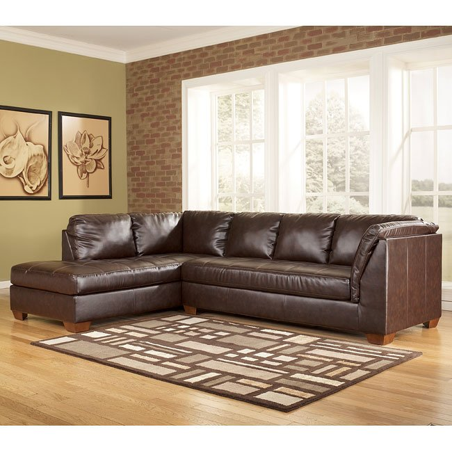 DuraBlend - Mahogany Left Chaise Sectional