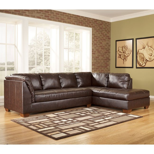DuraBlend - Mahogany Right Chaise Sectional