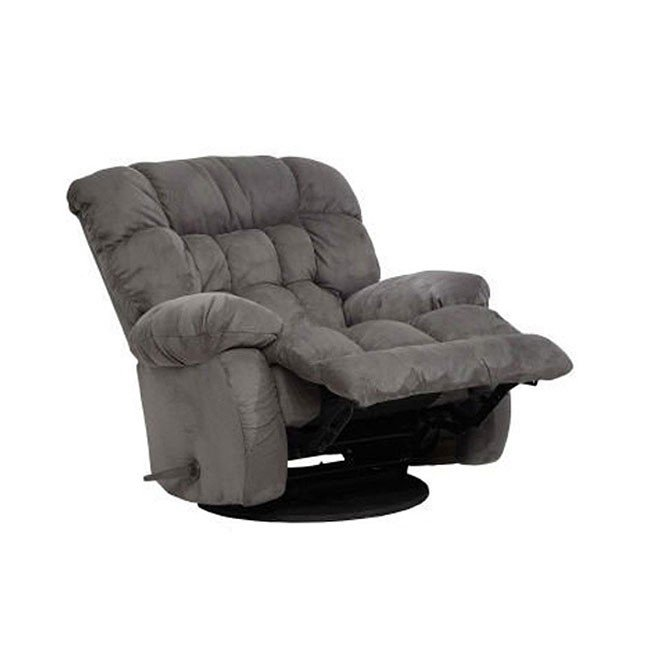 Teddy Bear Chaise Swivel Glider Recliner Graphite