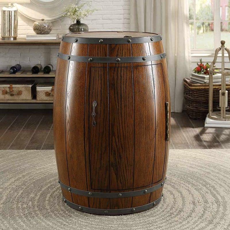 Cabernet Wine Barrel Refrigerator (Dark Oak)
