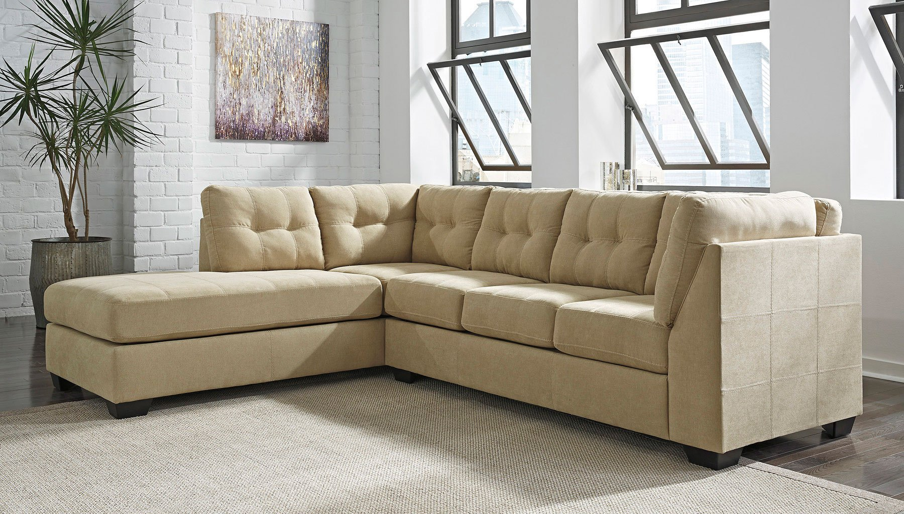 Maier Cocoa Left Chaise Sectional