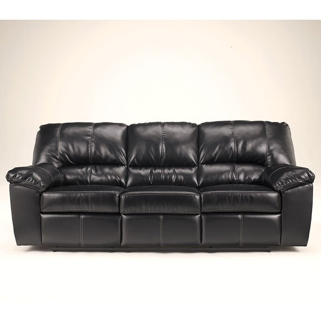 DuraBlend - Black Reclining Sofa w/ Power