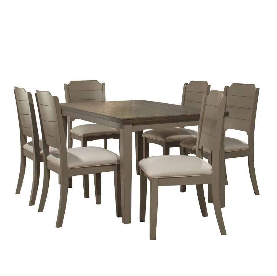 Clarion Rectangular Dining Room Set Distressed Gray