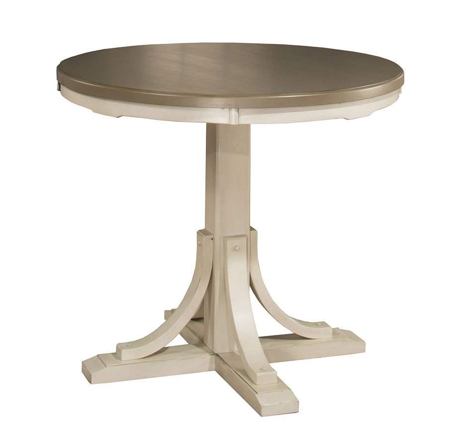 Clarion Round Counter Height Table (Sea White) Hillsdale ...