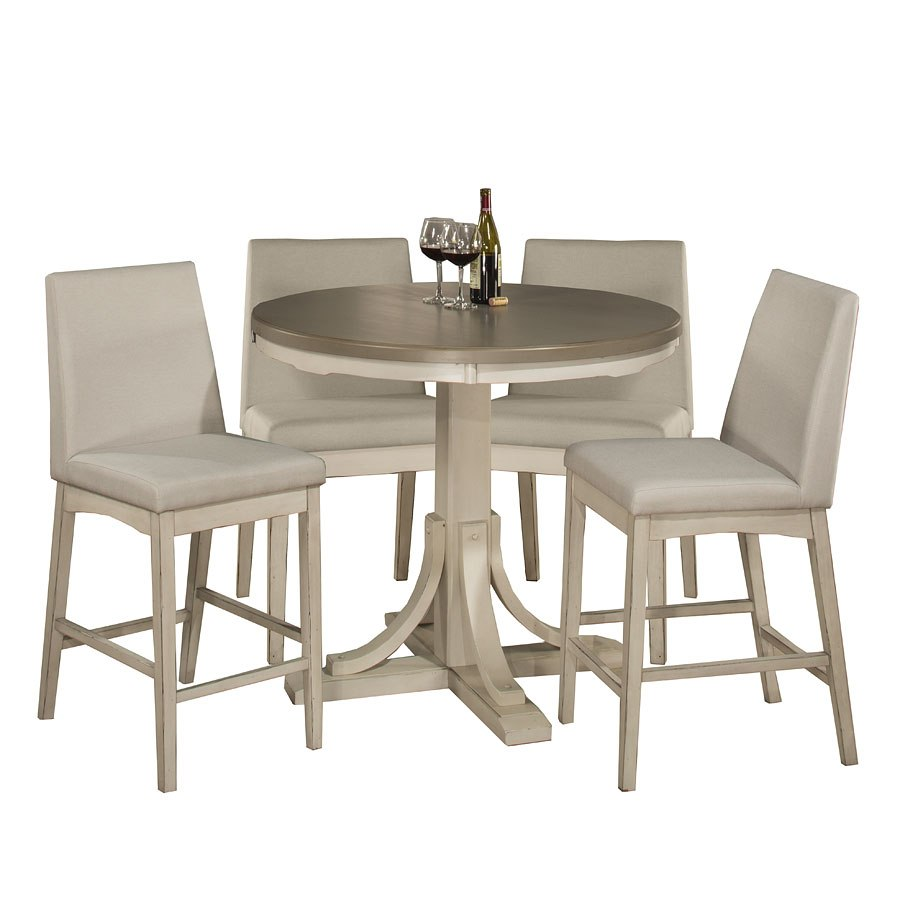 eb749fcabf9 Clarion Round Counter Dining Set W  Parson Stools (Sea White) Hillsdale  Furniture