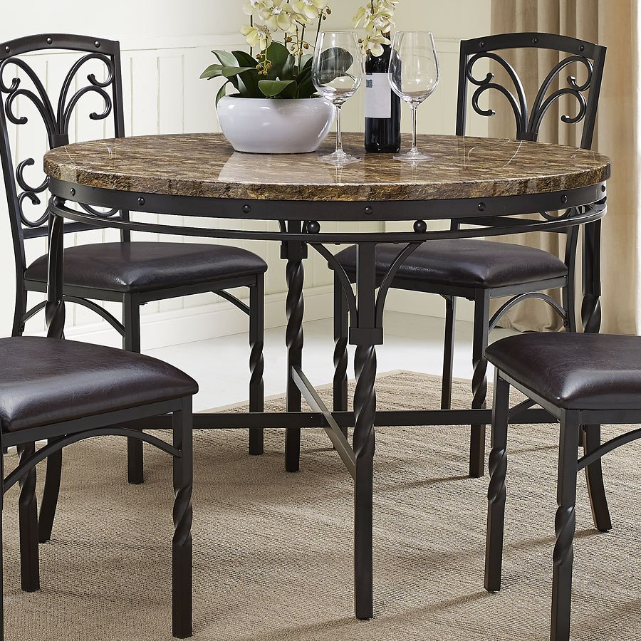 Tuscan Dining Room Chairs: Tuscan Round Dining Room Set Bernards