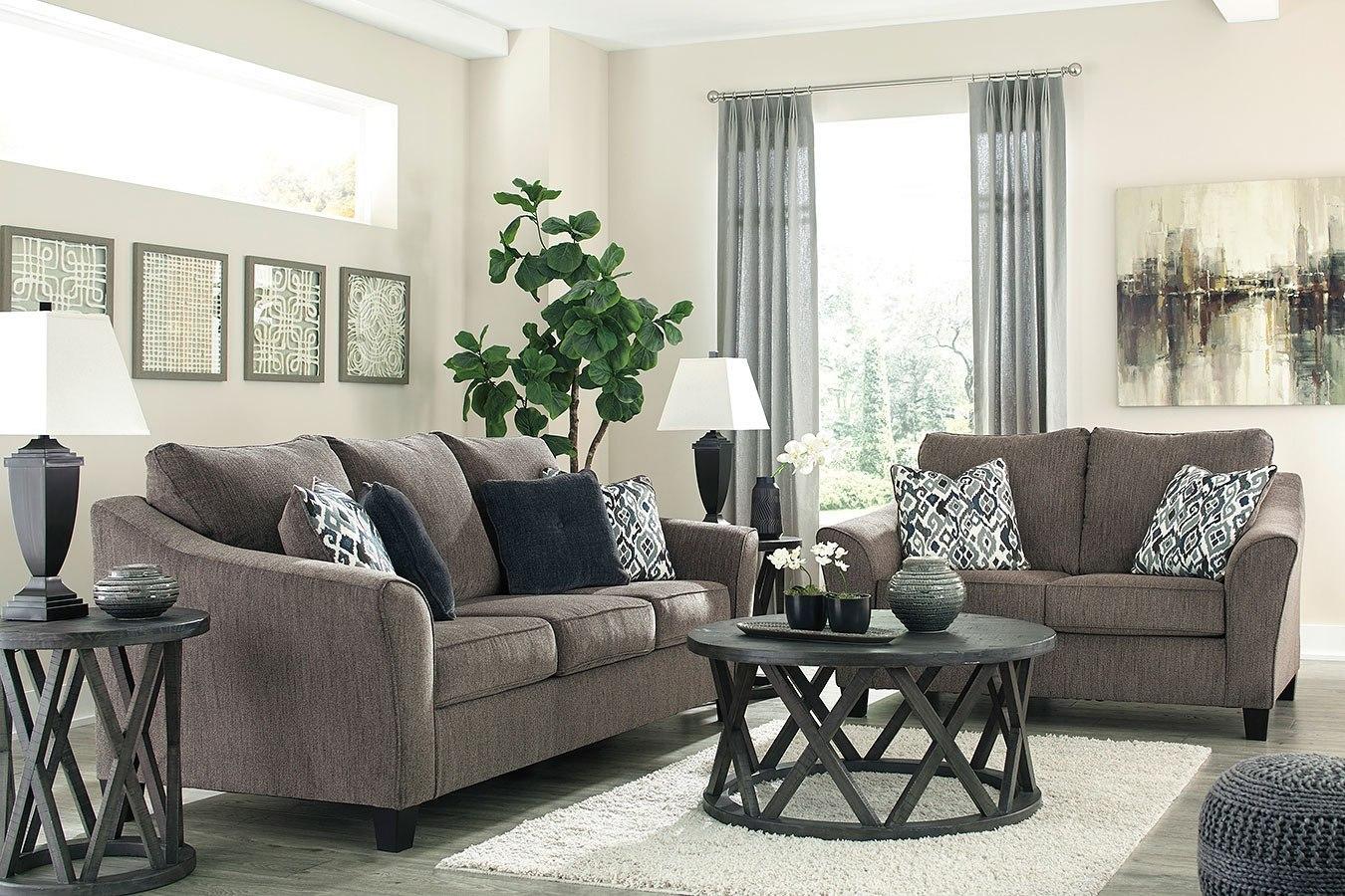 Nemoli Slate Living Room Set Signature Design Furniture Cart
