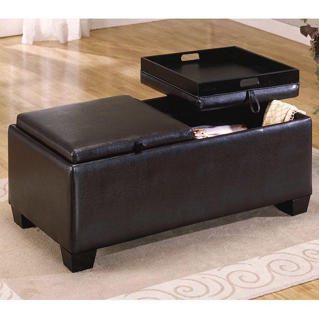 vega rectangular ottoman cocktail table homelegance furniture cart. Black Bedroom Furniture Sets. Home Design Ideas