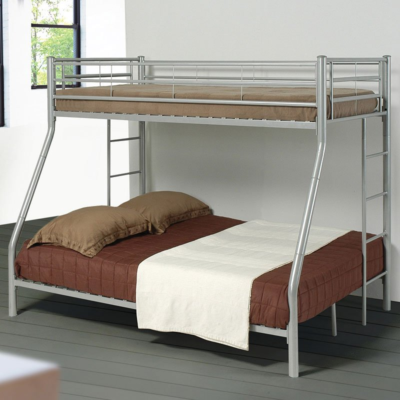 Denley Twin Over Full Bunk Bed Silver Metal Coaster
