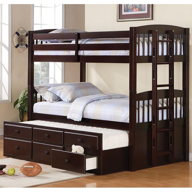 Logan Twin/Twin Bunk Bed w/ Trundle
