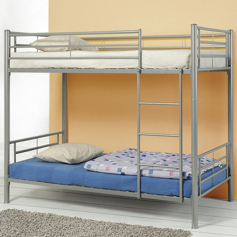 Denley Twin Over Twin Bunk Bed Silver Metal Coaster