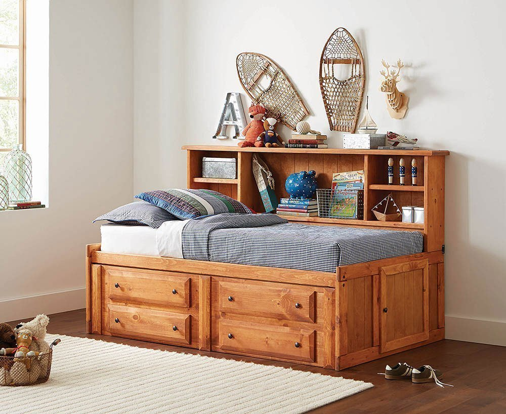 Wrangle hill twin storage daybed amber wash coaster furniture