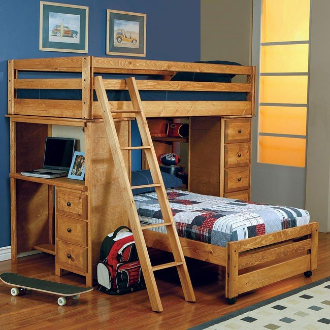 Wrangle Hill Twin/Twin Loft Bed