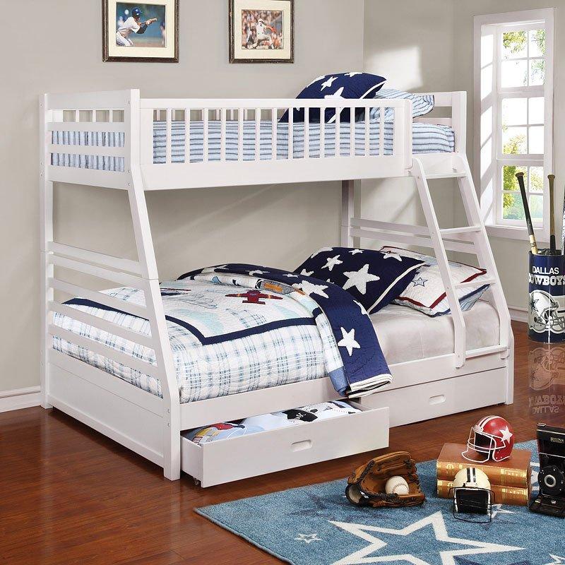 Ashton Twin Over Full Bunk Bed White Coaster Furniture
