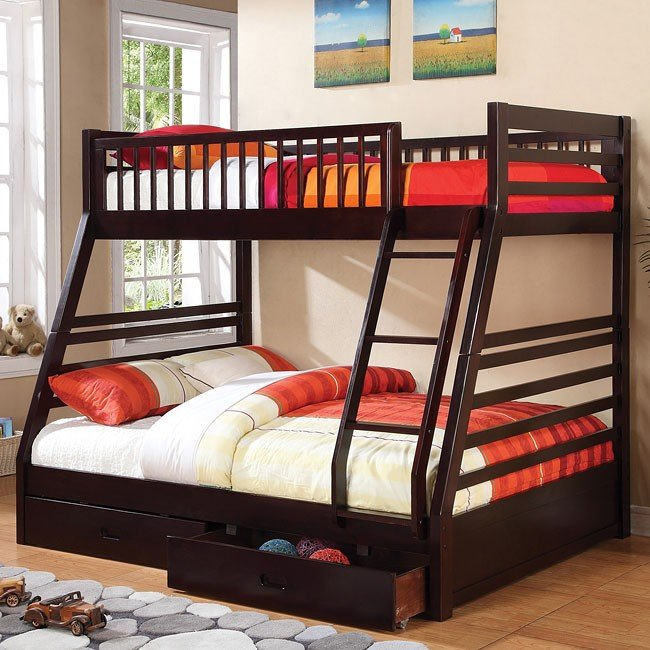 Cooper Twin/ Full Bunk Bed (Cappuccino)