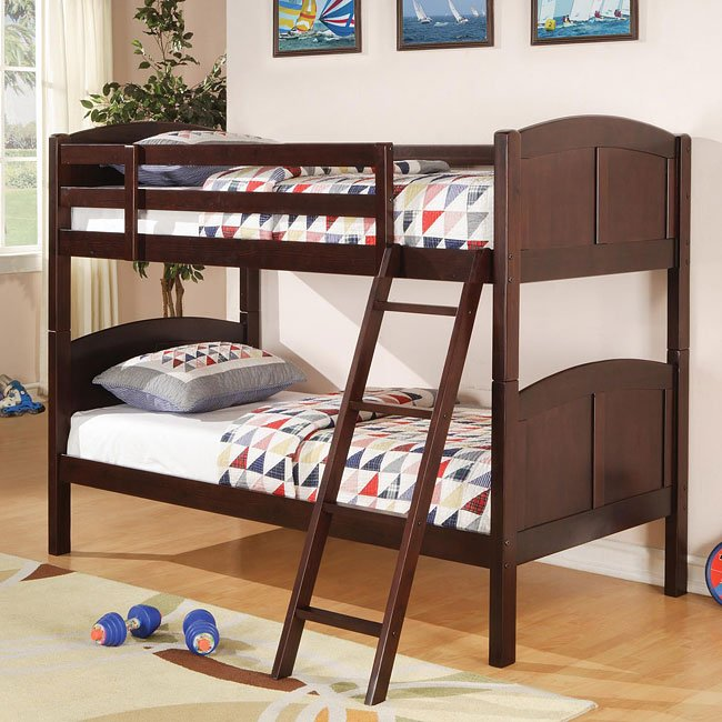 Parker Twin over Twin Bunk Bed (Cappuccino)