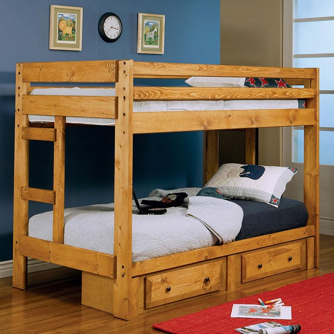Wrangle Hill Twin/Twin Bunk Bed w/ Storage