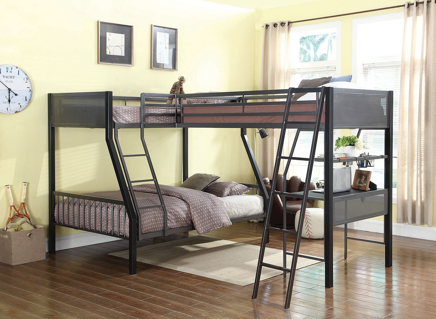 Meyers Twin Over Full Bunk Bed W Loft Add On Coaster
