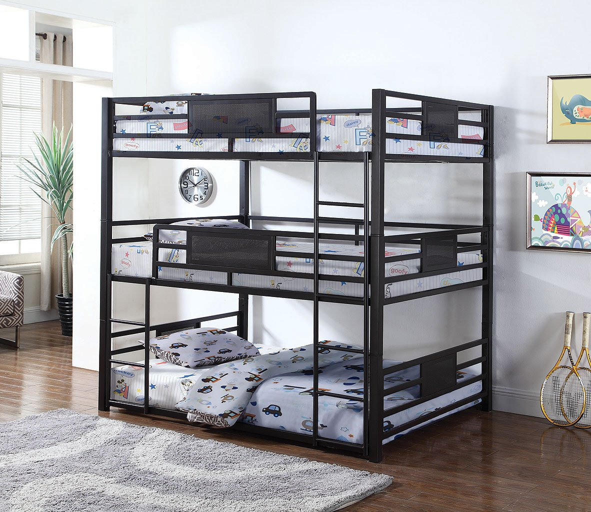 Rogen Triple Full Bunk Bed