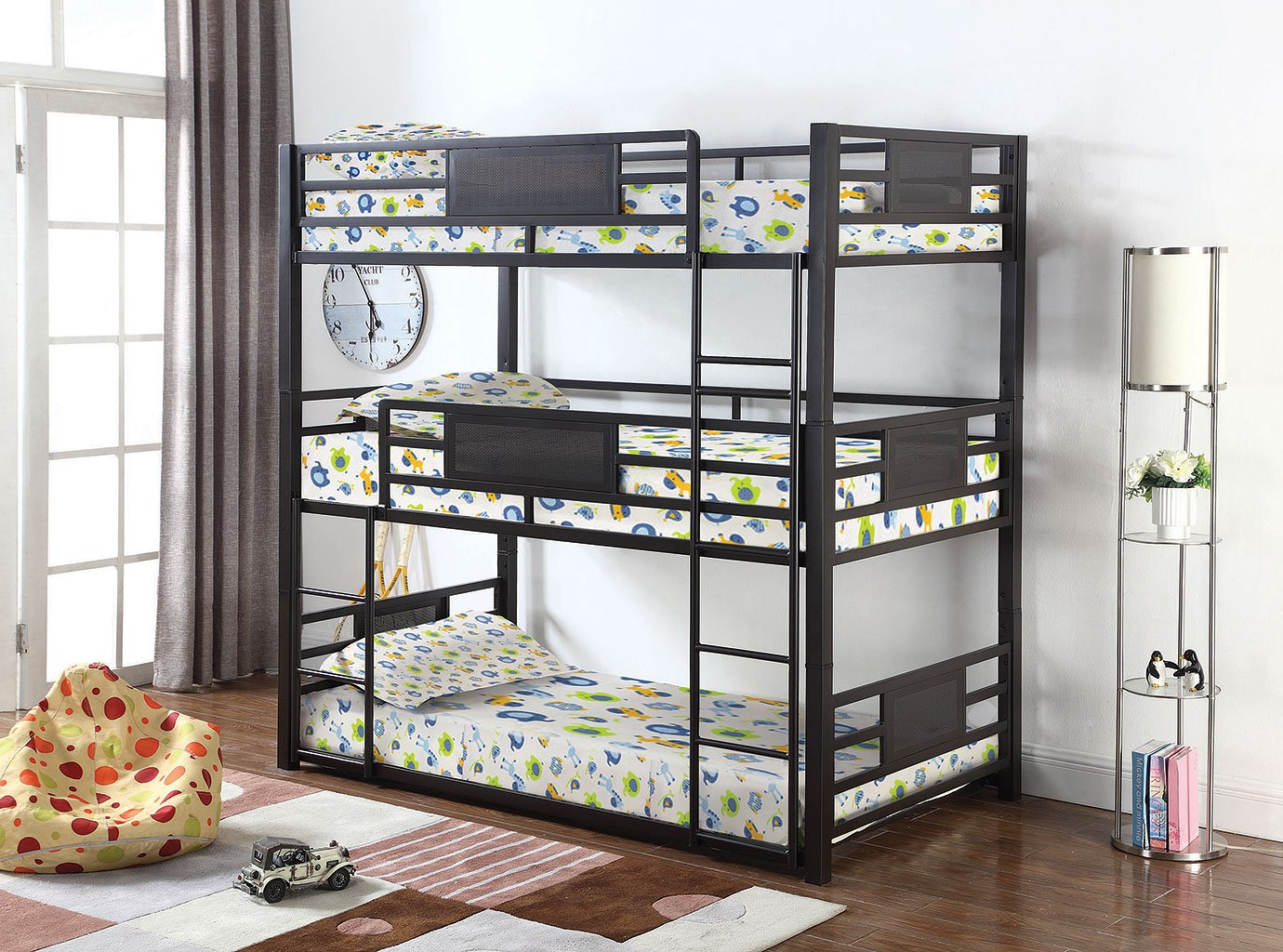 Rogen Triple Twin Bunk Bed