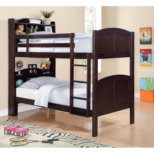 Parker Bookcase Bunk Bed