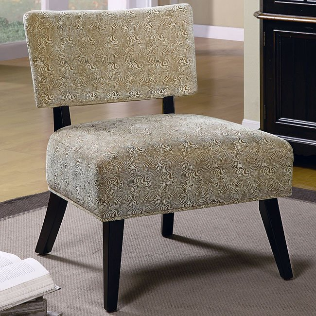 Upholstered Accent Chair (Swirl)