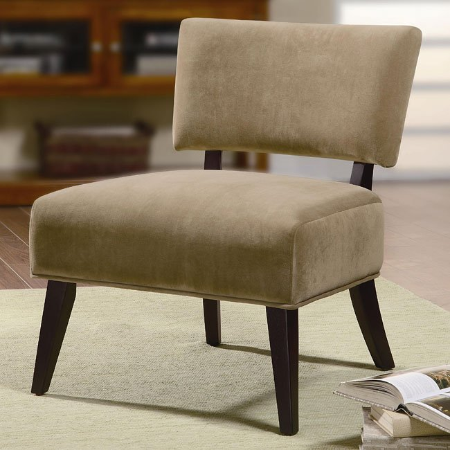 Upholstered Accent Chair (Tan)
