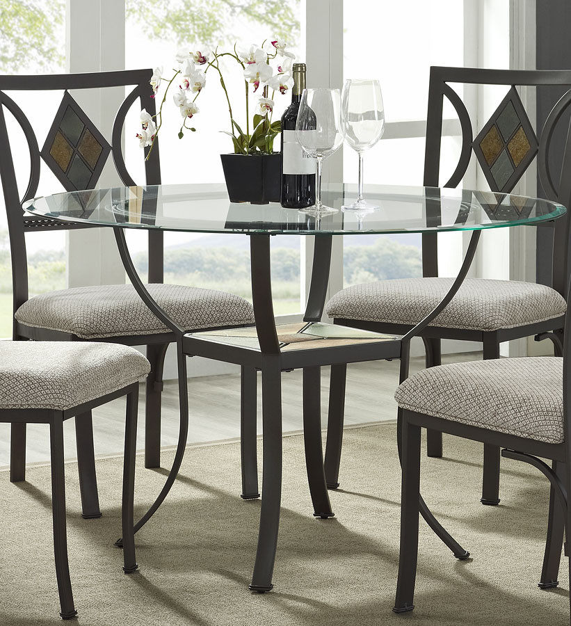 Tables N Chairs: Diamond Round Dining Table Bernards