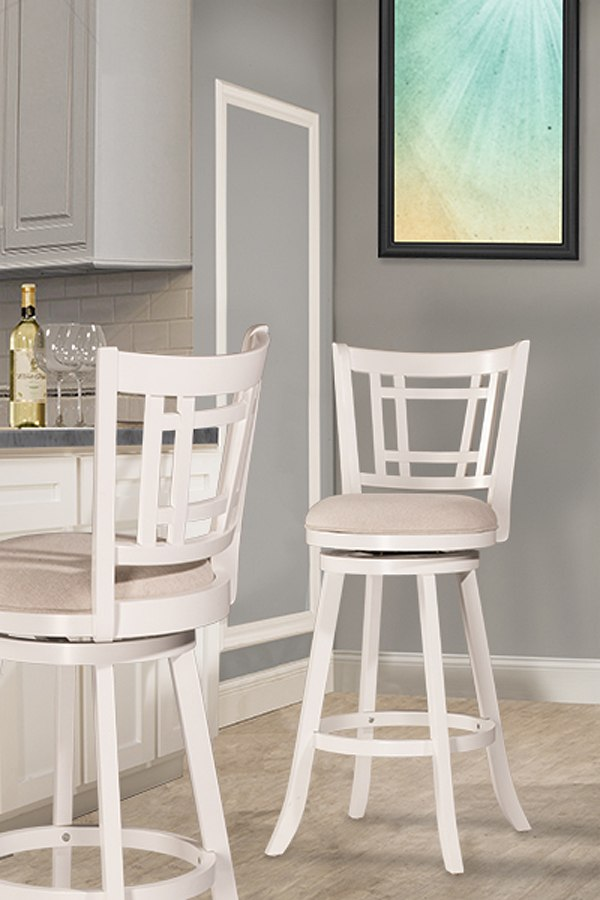 Fairfox Swivel Counter Height Stool White Hillsdale
