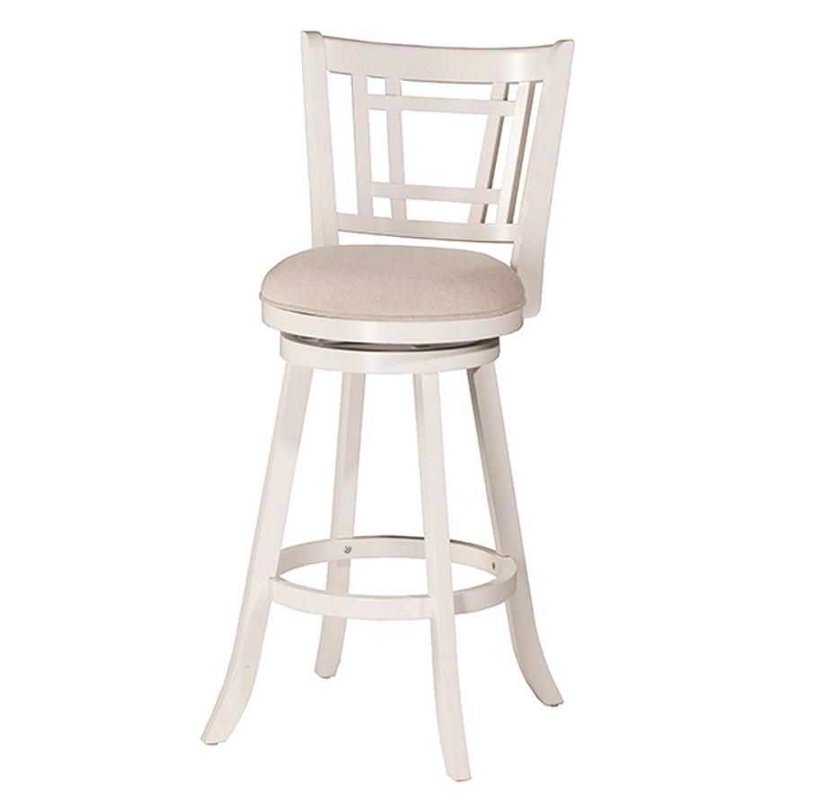 Fairfox Swivel Barstool White Hillsdale Furniture