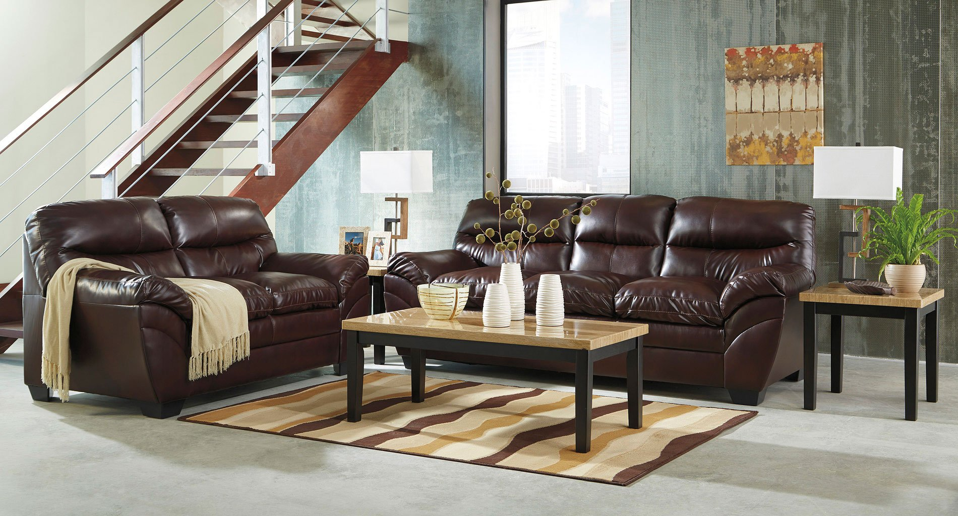 Tassler durablend mahogany living room set