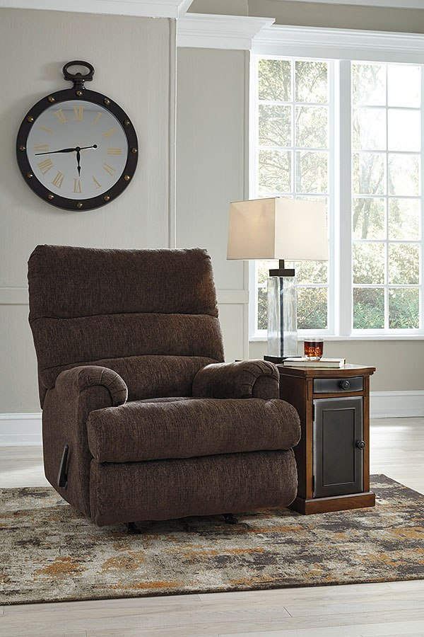 Man Fort Earth Rocker Recliner Signature Design